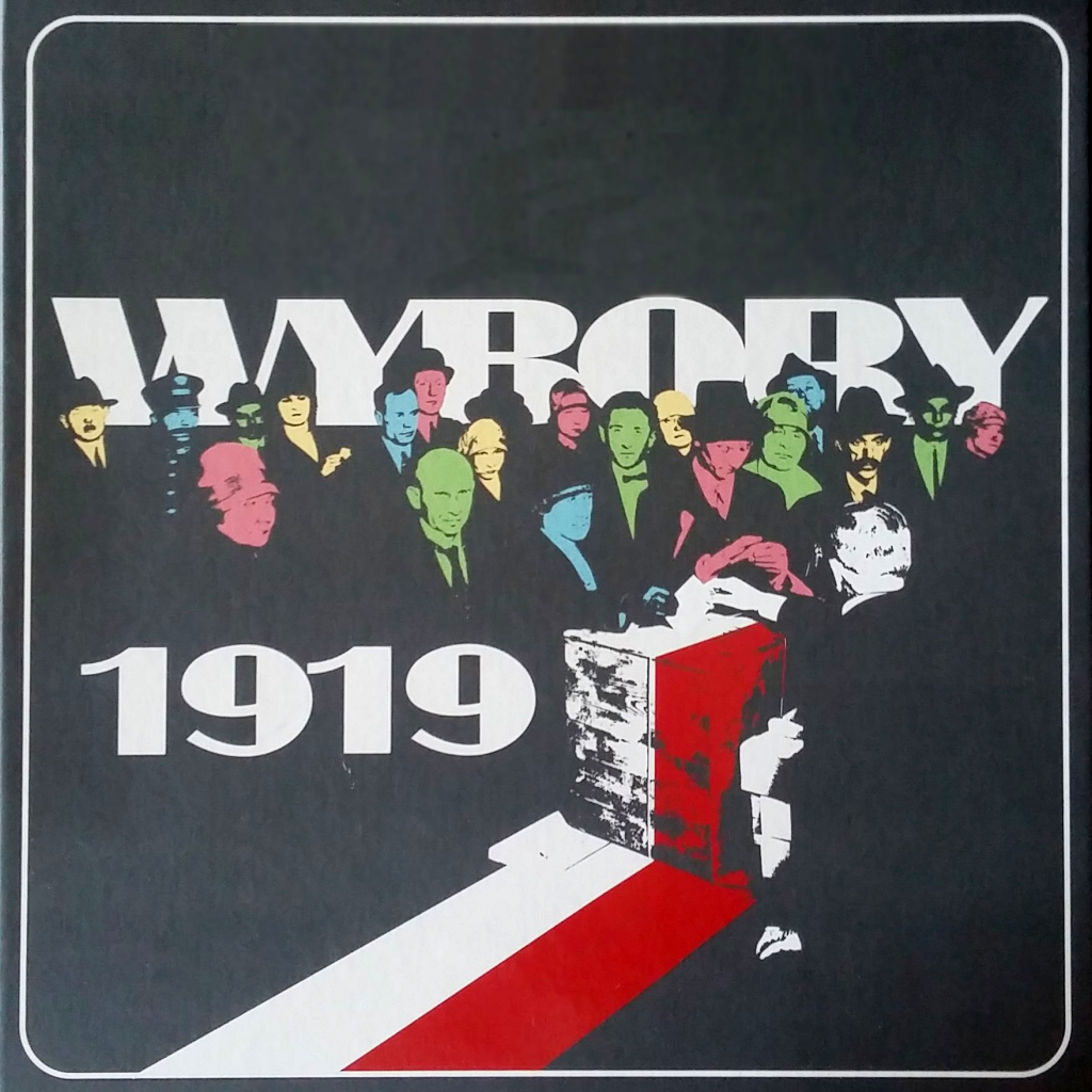 Wybory 1919 - okładka gry planszowej